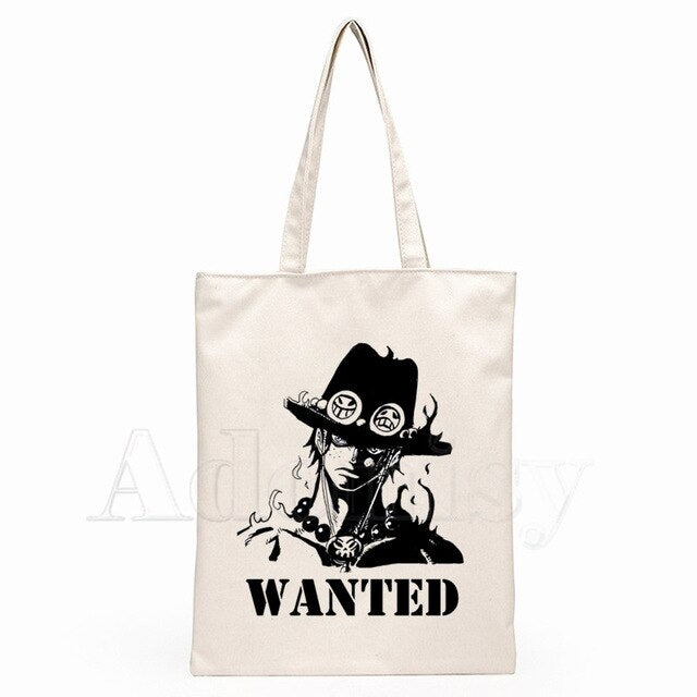 Sac Cabas One Piece Ace Wanted
