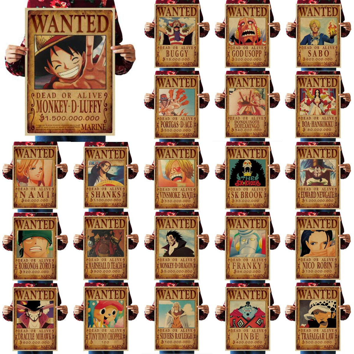 Poster One Piece Wanted <br> Pack Collector