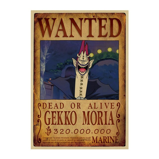 Poster Wanted Moria One Piece