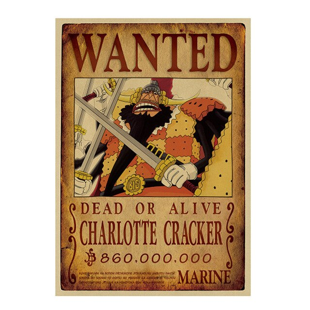 Poster Wanted Cracker One Piece