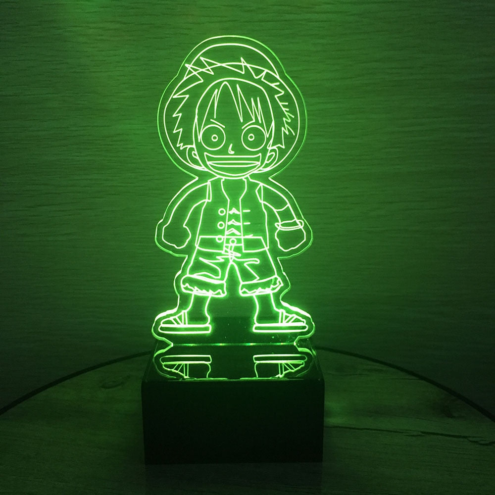 Lampe Acrylique One Piece <br> Luffy