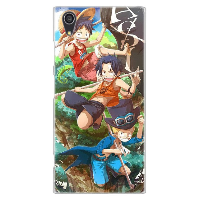 Coque One Piece Sony <br> Portgas D. Ace, Luffy & Sabo