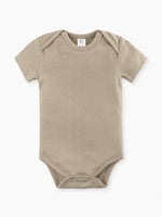 Classic Short Sleeve Bodysuit -  Clay