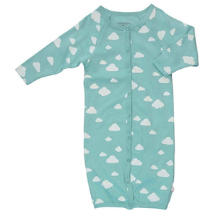 Babysoy Clouds Snaps Gown - Clouds