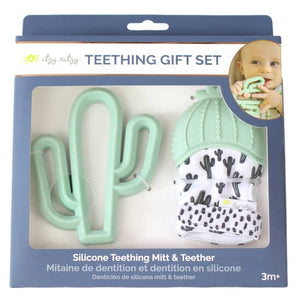 Cactus Teething Mitt & Teether Set