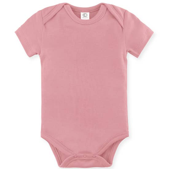 Classic Short Sleeve Bodysuit - Rose