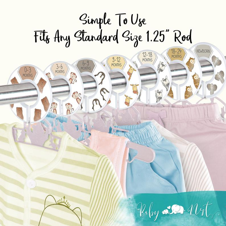 Load image into Gallery viewer, UNISEX Closet Dividers for Baby Clothes