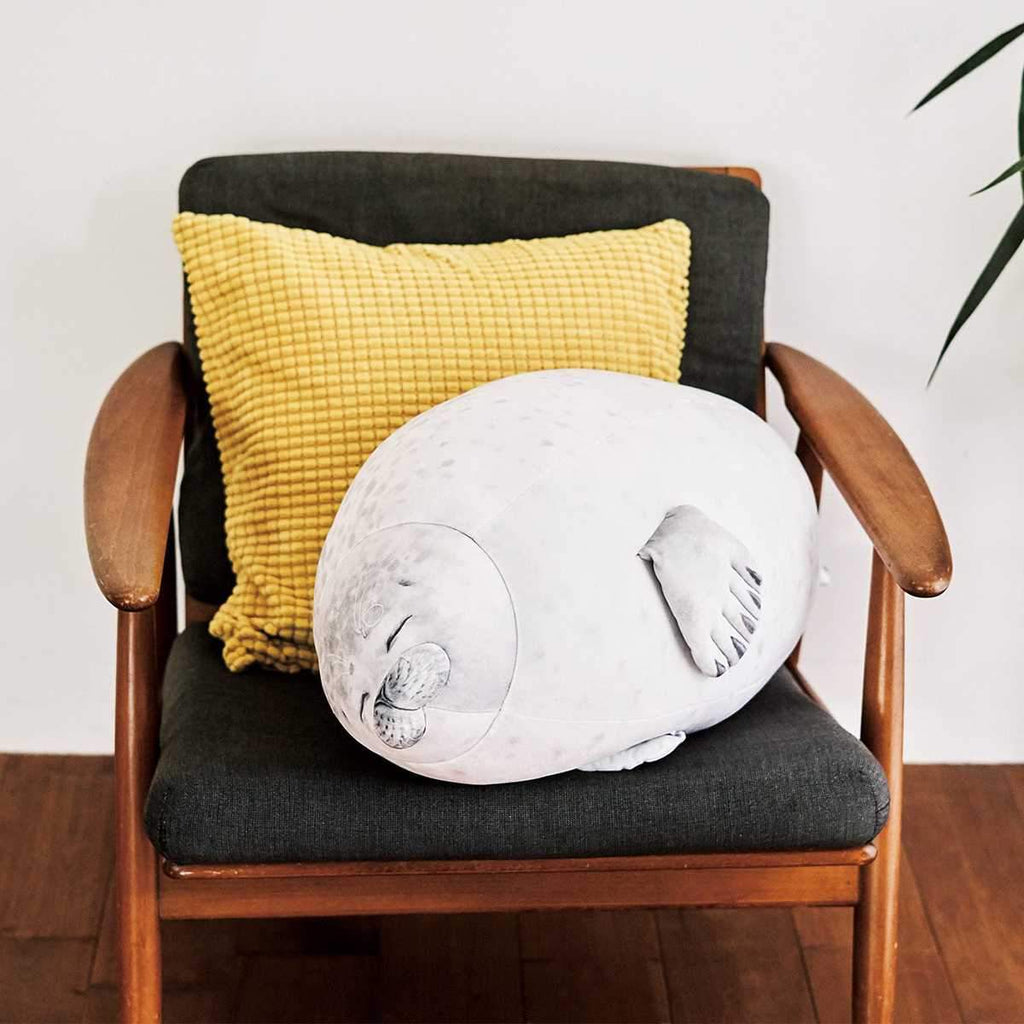 Chonky Sleepy Seal Plushie & Pillow