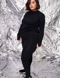 Rizanaa elevate high waisted legging / Noir / Curve