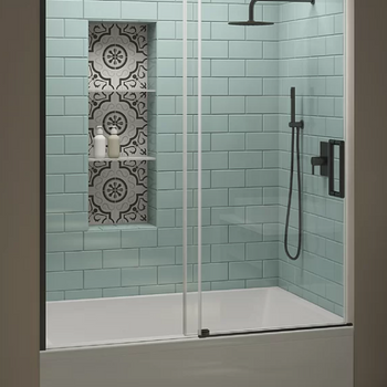 Single Sliding Frameless Tub Door 70'' H x 60'' W