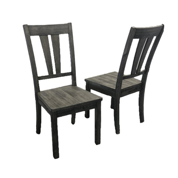 Grey wood chairs