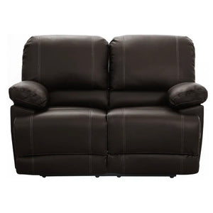 Faux leather recliner loveseat