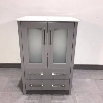 "24"" single bathroom vanity and mirror"