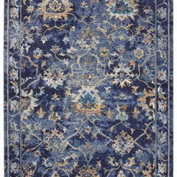 Amory floral blue carpet