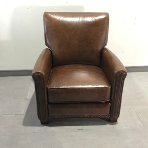 Antic leather recliner armchair