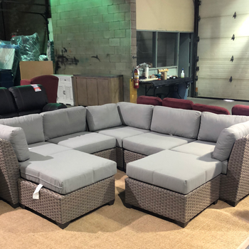 7-piece outdoor sectional