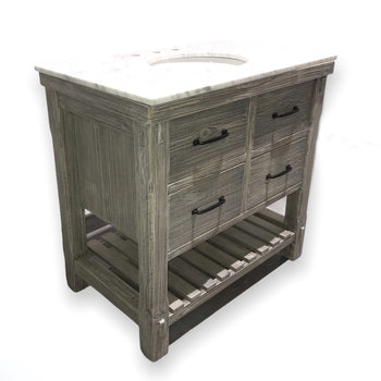 "36"" Rustic Solid Fir Single Bathroom Vanity Set"
