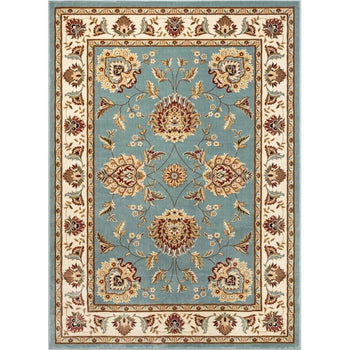"9'3"" x 12'6"" Oriental Light Blue Area Rug"