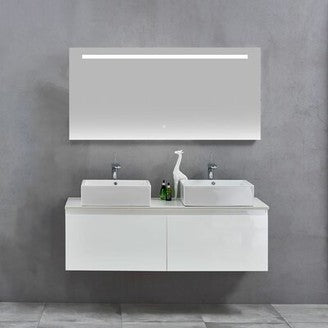 "59"" Double Wall-Mounted Double Bathroom Vanity Set"