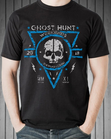 Thomas House Hotel GHW Skull 2018 Blue Official Event T-Shirt