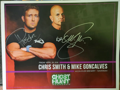 Autographed 8x10 Promotional April 2018 Moon River Brewery w/Chris & Mike