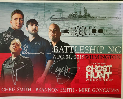 Autographed Promotional 8x10 2019 Battleship North Carolina
