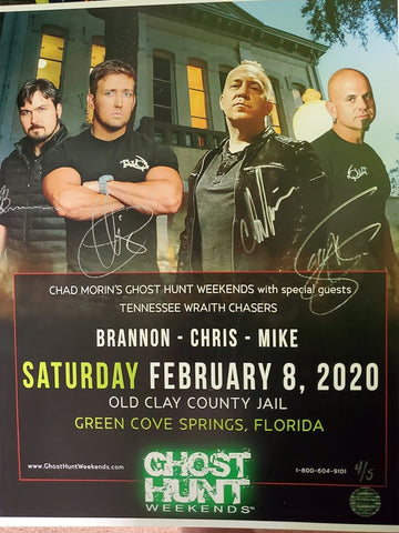 Autographed 11x14 2020 Clay County Jail Event Poster with TWC