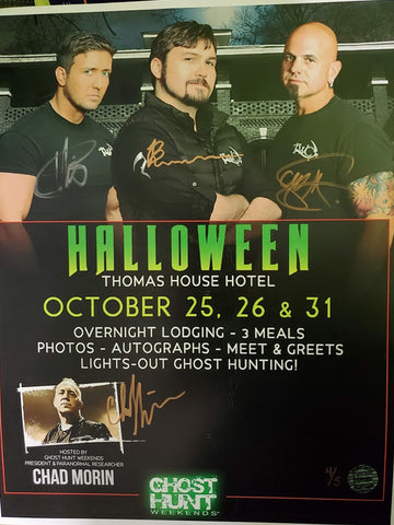 Official Halloween Autographed 2019 Thomas House TWC Event Poster