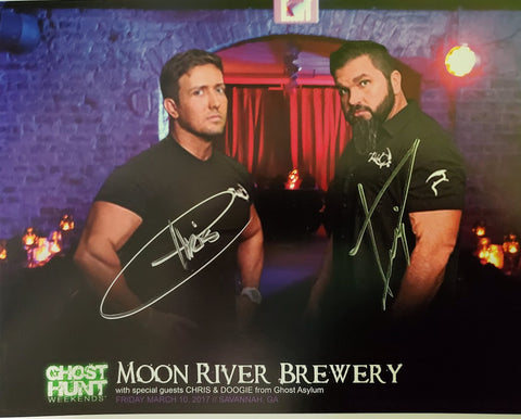 Autographed 8x10 Promotional 2017 Moon River Brewery w/Chris & Doogie