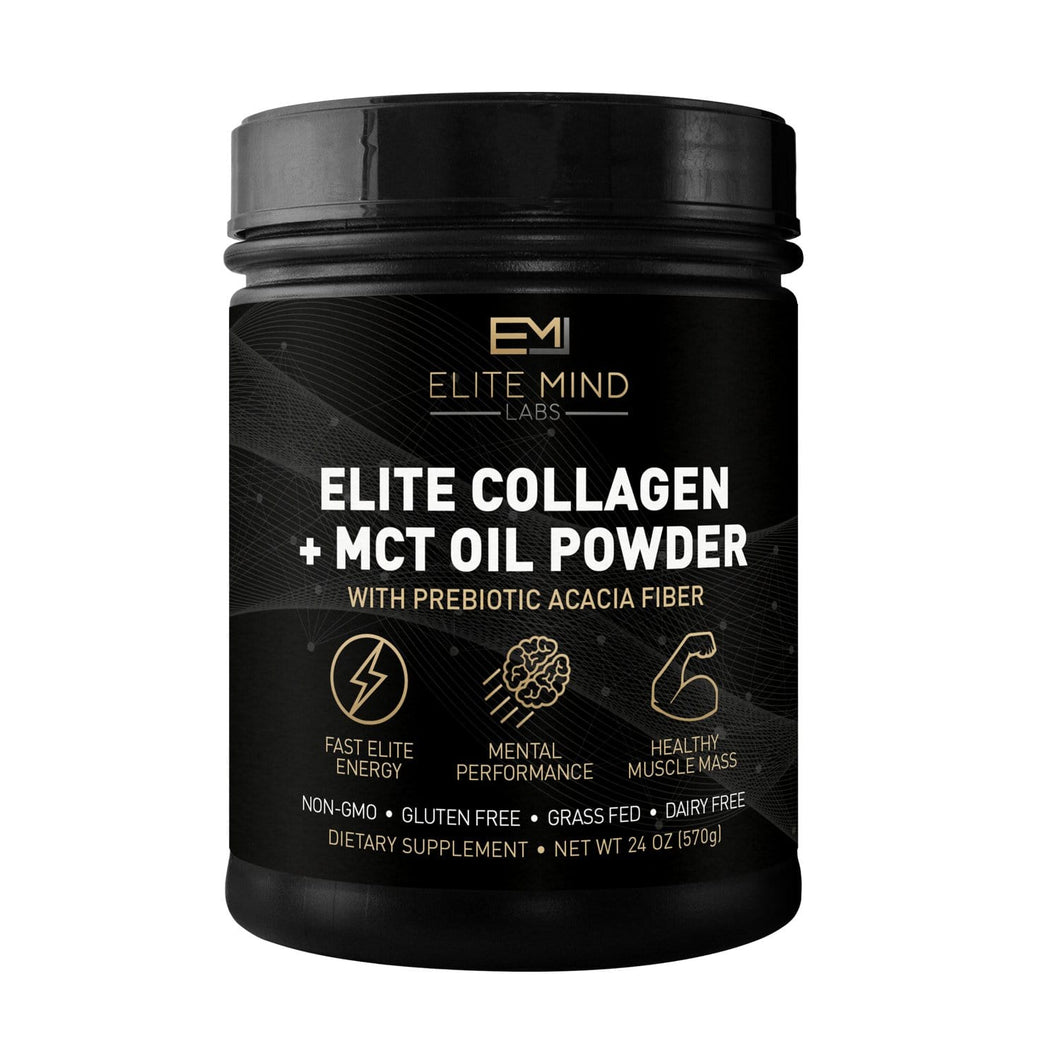 This product combines the sustainable proteins from 100% grass-fed collagen peptides with the energy boosting healthy fats in MCT oil. Elite Start Collagen + MCT can be used at any time of day for a boost in energy and focus while also supporting digestion, hair, skin, nails, and joint health.
