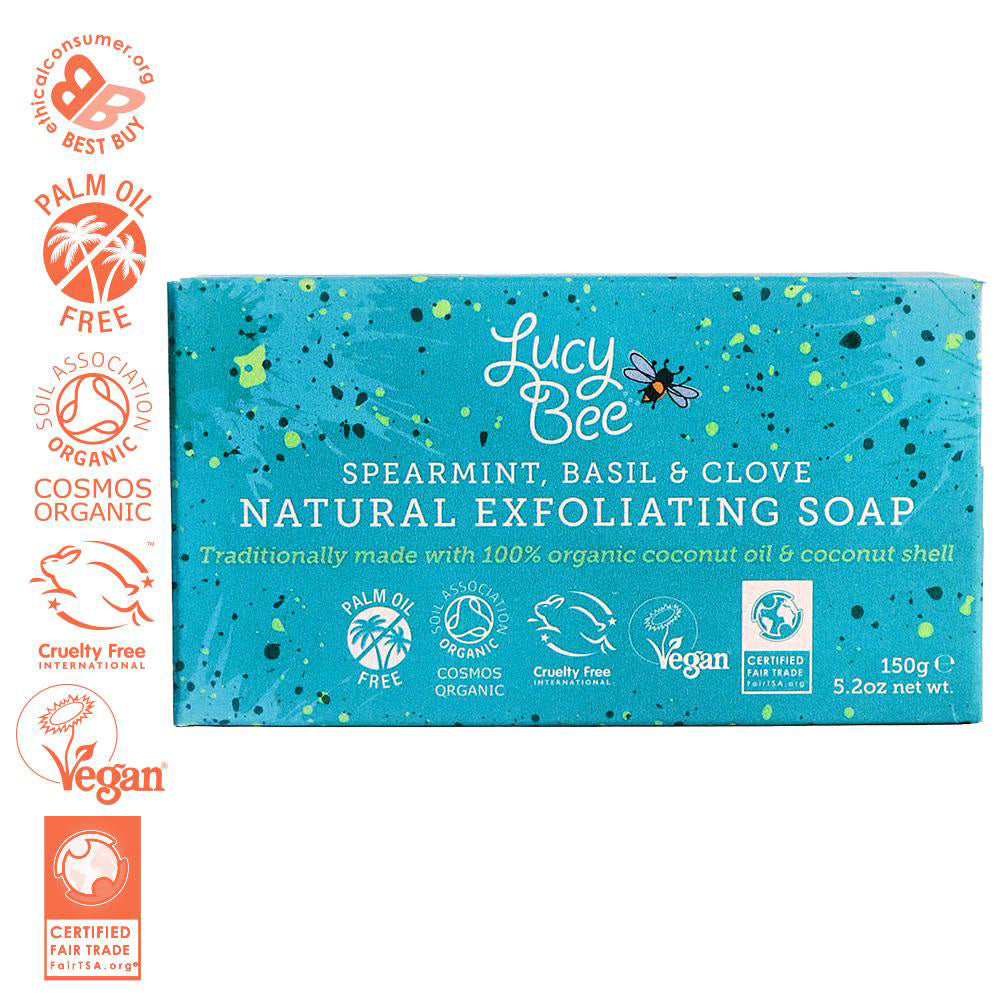 Lucy Bee Natural Soap Bar With Logos