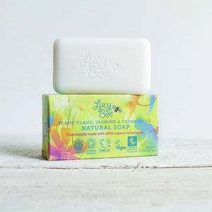 Lucy Bee Ylang Ylang Jasmine and Cedarwood Natural Soap and Pack