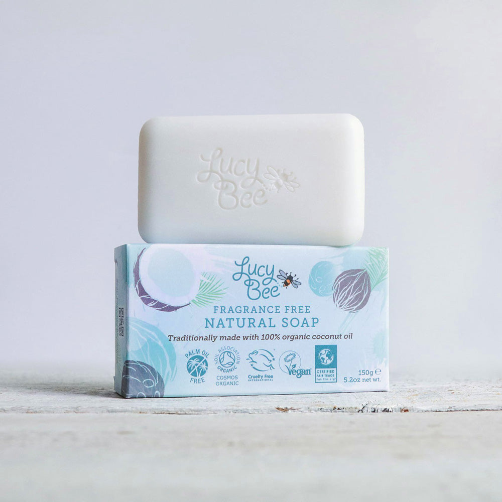 Lucy Bee Fragrance Free Soap Package with Soap Bar