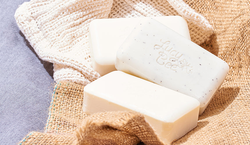 Lucy Bee Skincare Soaps up close