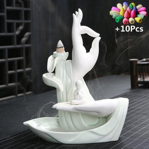 White Ceramic Incense holder - rpbrothershop
