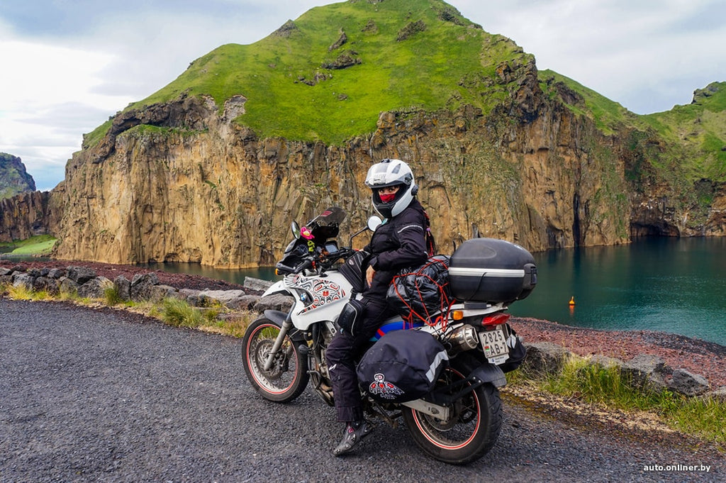 a motorcyclist traveled to Iceland, Sakhalin, the Kuril, Aland, Faroe Islands - a total of 26 countries