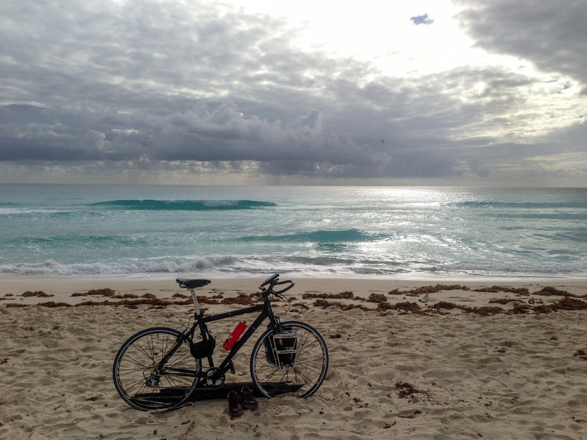 I collected my bike and enjoyed the sea and the sun.