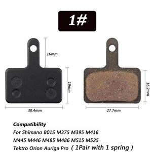 1 Pair Bicycle Semi - Metallic Disc Brake Pads For Shimano Bikewest.com N01