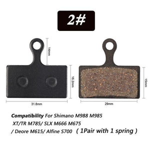 1 Pair Bicycle Semi - Metallic Disc Brake Pads For Shimano Bikewest.com N02
