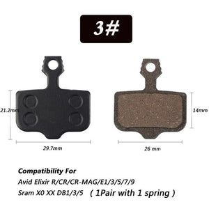1 Pair Bicycle Semi - Metallic Disc Brake Pads For Shimano Bikewest.com N03