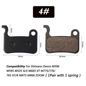 1 Pair Bicycle Semi - Metallic Disc Brake Pads For Shimano Bikewest.com N04