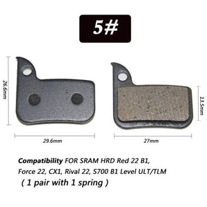 1 Pair Bicycle Semi - Metallic Disc Brake Pads For Shimano Bikewest.com N05