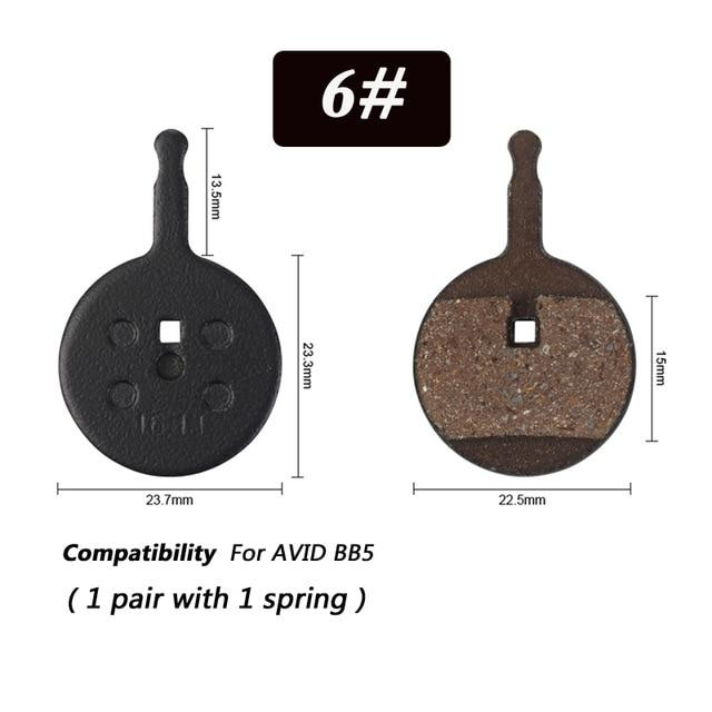 1 Pair Bicycle Semi - Metallic Disc Brake Pads For Shimano Bikewest.com N06