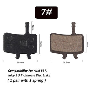 1 Pair Bicycle Semi - Metallic Disc Brake Pads For Shimano Bikewest.com N07