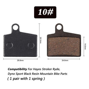 1 Pair Bicycle Semi - Metallic Disc Brake Pads For Shimano Bikewest.com N10