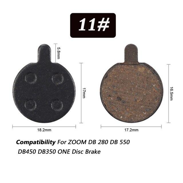 1 Pair Bicycle Semi - Metallic Disc Brake Pads For Shimano Bikewest.com N11