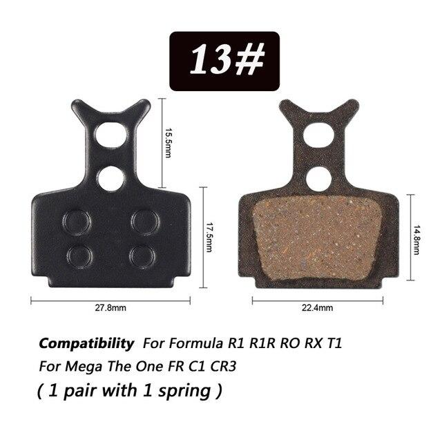 1 Pair Bicycle Semi - Metallic Disc Brake Pads For Shimano Bikewest.com N13