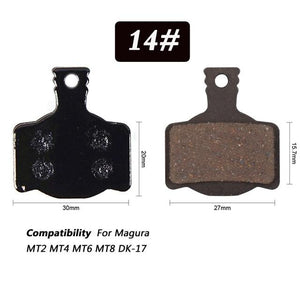 1 Pair Bicycle Semi - Metallic Disc Brake Pads For Shimano Bikewest.com N14