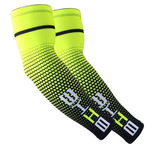 1Pair Cool Men Cycling Running UV Sun Protection Bikewest.com Green M