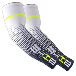 1Pair Cool Men Cycling Running UV Sun Protection Bikewest.com White M